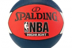 Balon Basquetbol Spalding Highlight #7 - Balon #7 Balnoc/Azul