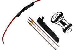 Tensión 8.1 kg. Arco de fibra de vidrio Longitud de tiro: 240 mm Tensión de tiro: 260 mm Medida de arco: 1027 mm