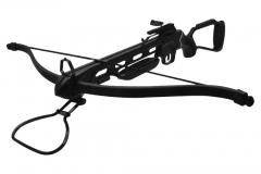 Arco de fibra de vidrio 3 Flechas de plástico con puntas de acero niquelado. Estribo metálico. Cuerda de poliester.